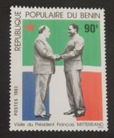"""BÉNIN YT 557 NEUF**MNH"""" VISITE DU PRÉSIDENT MITTERRAND"""" ANNÉE 1983 - Benin – Dahomey (1960-...)"""