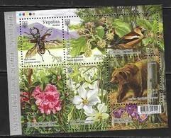 UKRAINE, 2018, MNH, CARPATHIAN BIOSPHERE RESERVE, MOUNTAINS, FLORA, FLOWERS, BIRDS, INSECTS, BEETLES, BEARS,SLT - Birds