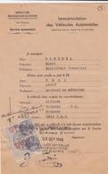 FISCAUX SUR CERTIFICAT DE VENTE CITROEN TORPEDO - 1946 - 1900 – 1949