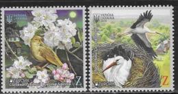 UKRAINE, 2019, MNH, EUROPA, BIRDS, 2v - 2019