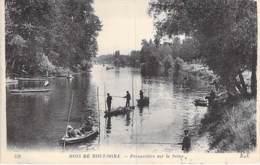 PECHEURS A LA LIGNE -  75 - PARIS 16 ème - BOIS De BOULOGNE : Perspective Sur La Seine ( Pêcheurs En Barque ) CPA - Pêche