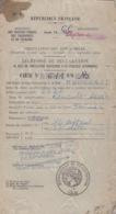 MINISTERE DES TRANSPORTS - RECEPISSE DE DECLARATION DE MISE EN CIRCULATION D'UN VEHICULE RENAULT - 1966 - MARQUE FISCALE - 1900 – 1949