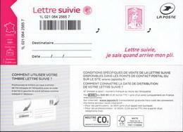 LA LETTRE SUIVIE (LS 4) Type Ciappa, 2ème Tirage 2016. Sans Logo €uro Et Fond Du Timbre En Pointillés. - Frankrijk