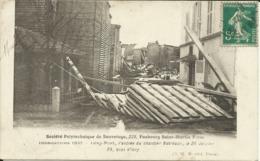 PARIS XIII , Inondations 1910 , L'entrée Du Chantier Batreaux , Le 26 Janvier Au 23 Quai D' Ivry , 1910 - Inondations De 1910