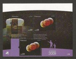 "PORTUGAL  - EUROPA 2009  - TEMA  ""ASTRONOMIA"" - SERIE + HOJITA BLOQUE  - DENTADAS - Europa-CEPT"