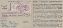 CERTIFICAT D'IMMATRICULATION 1963 - SAVIEM RENAULT - FISCAUX - Francia