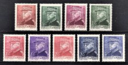MONACO 1941  - SERIE  Y.T. N° 225 A 233  - 9 TP NEUF** /5 - Neufs