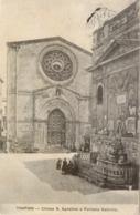 10821 Trapani - Chiesa S.Agostino E Fontana Saturno - Trapani