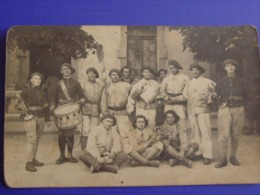 Photo Soldats Du 159° RIA (Infanterie Alpine) Avec Tambour & Clairons (Briançon Ou Embrun ?) - Regimente