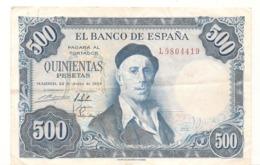 500 Pesetas - 22 Juin 1954 - Madrid - TTB -  Billets  ° - [ 3] 1936-1975: Regime Van Franco