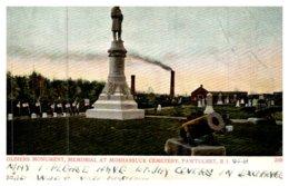 Rhode Island  Pawtucket , Soldier's Monument, Moshassuck Cemetery - Pawtucket