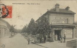 FONTAINEBLEAU , Place Orloff Et Octroi , CPA ANIMEE , 1911 - Fontainebleau