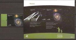 """MADEIRA  - EUROPA 2009  - TEMA  """"ASTRONOMIA"""" -  SERIE + HOJITA BLOQUE .- DENTADAS - Europa-CEPT"""