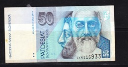 BANKNOTES-SLOVAKIA-50-CIRCULATED-SEE-SCAN - Slovacchia