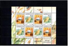 Azerbaijan 2010 . Birds (J/w Kazakhstan). Sheetlet Of 8 (4 Sets). Michel # 832-33  KB - Azerbaiján