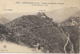 3537 CASTILLON ROUTE DE MENTON A SOSPEL - Sospel
