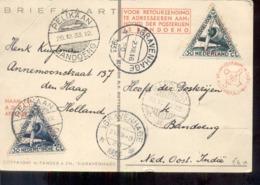 Luchtpost - Pelikaan - Bandoeng 26.12.33 - Den Haag 02.XII.33 - 31.XII.33 - Pander Postjager - Snelpost - Ganzsachen