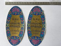 2 étiquettes De Parfum - LT PIVER PARIS - Eau De Cologne (une étiquette Est Froissée) - Labels
