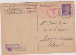 MILITARIA Entier Postal 1944 Camp De Prisonniers De REICHSMESSESTADT  LEIPZIG Pour Farciennes Avec Censure Allemande - Germany