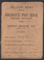 Belgian Army - Soldier's Pay Book - Complet, 1er Page Détachée - Flags