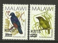 MALAWI  2016  BIRDS,OVERPRINTS,2V  MNH - Birds