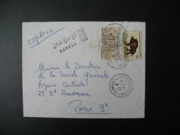 Lettre Thème Animaux Sanglier Cochon Et UNESCO Tunisie 1971  Pour La Sté Générale En France Bd Haussmann Paris - Tunisia (1956-...)