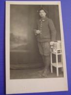 """14-18 / Photo D'un Chasseur Alpin Prisonnier En Allemagne """"souvenir Captivité ..Regensburg 4-1916  """"pour Nice. - 1914-18"""