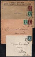 ALSACE - BAS RHIN / 1921-1922 - 3 LETTRES PERIODE FRANCAISE (ref 1551) - Alsace-Lorraine