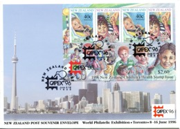 New Zealand 1996 CAPEX '96 Stamp Exhibition MS FDC Cover - FDC