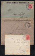 ALSACE - BAS RHIN / 1908-1914 - 3 LETTRES PERIODE ALLEMANDE (ref 1627) - Alsace-Lorraine