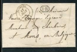 Frankreich / 1849 / Vorphila-Transitbrief K2 BETHUNE Nach Belgien (0279) - Poststempel (Briefe)