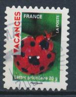 France - Vacances 2009 - Coccinelle YT A318 Obl. Cachet Rond - Adhésifs (autocollants)