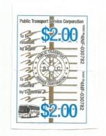 TRINIDAD & TOBAGO:Trinidad Government Railway Ticket: Public Transport Service Corporation.PTSC - Spoorwegen