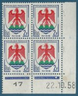 Coin Daté N°1184 Armoiries De Nice (22.10.58) Neuf** - 1950-1959