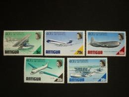 ANTIGUA, 1970 Aircraft Scott # 232-236 MNH Cv. 8,00$ - Antigua & Barbuda (...-1981)