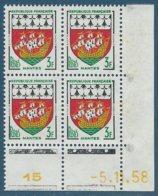 Coin Daté N°1185 Armoiries De Nantes (-5.11.58) Neuf** - 1950-1959