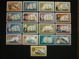 ANTIGUA, 1970 Ships Scott # 241-257 MNH Cv. 41,00$ - 1960-1981 Autonomia Interna