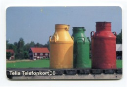 Telecarte °_ Suède-Bidons Colorés-12.95- R/V 0111 - Schweden