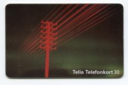 Telecarte °_ Suède-Ligne électrique-08.96- R/V 5877 - Suède