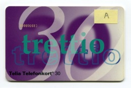 Telecarte °_ Suède-Trettio.30.A-12.93- R/V 0111 - Schweden