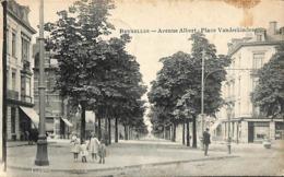 Bruxelles - Avenue Albert - Place Vanderkindere (animation 1909 Uccle) - Uccle - Ukkel