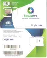 Greece-COSMOTE GSM Triple Sim New Logo(different Barcode At Back Side),mint - Griekenland