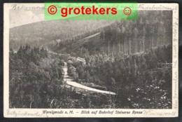WERNIGERODE A.H. Blick Auf Bahnhof Steinerne Renne 1925 - Wernigerode