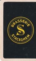 1 SPEELKAART STACEGHEM BRASSERIE ZWART - Cartes à Jouer