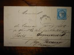 Lettre GC 1939 Landrecies Nord Avec Correspondance - 1849-1876: Période Classique