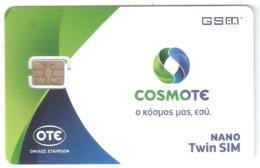 Greece-COSMOTE GSM Nano Twin Sim New Logo(different Chip), Mint - Griekenland
