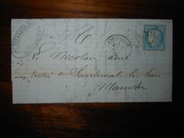 Lettre GC 1936 Landivisiau Finistere Avec Correspondance - 1849-1876: Période Classique