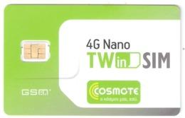 Greece-COSMOTE 4G Nano TWinSIM GSM Sim,mint - Griekenland
