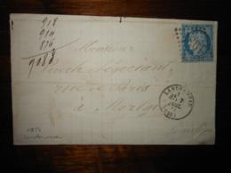 Lettre GC 1934 Landerneau Finistere Avec Correspondance - 1849-1876: Période Classique