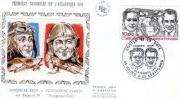 Premiere Traversée De L'Atlantique Sud - Joseph Le Brix & Dieudonné Costes Sur Bréguet 19 -  Enveloppe Premier Jour- FDC - Aerei